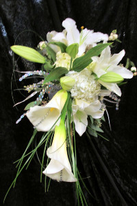 Beautiful calla lilies in a bridal bouquet from Artistic Designs by Brenda