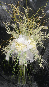 A gorgeous wedding reception centerpiece from Artistic Designs by Brenda