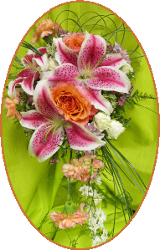 Beautiful bright colors in a bridal bouquet from Artistic Designs by Brenda