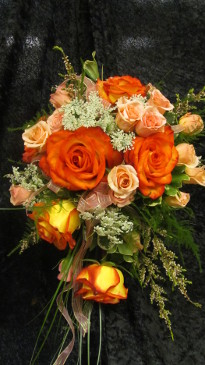 Beautiful rose bridal bouquet